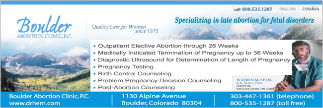 Late Abortion Clinic - Boulder Abortion Clinic in Boulder, Colorado | Dr. Warren Hern specializes in late abortion.