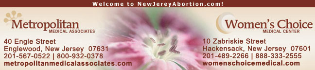 Metropolitan Medical Associates & Women's Choice abortion clinics in New Jeresey